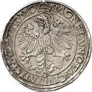 No. 3527: Dortmund. Reichstaler 1564. From Schulman auction 225 (1955), No. 1598. Extremely rare. Very fine. Estimate: 50,000 euros. Hammer price: 65,000 euros.