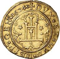 No. 5206: Genoa, Republic. 10 scudi 1624. Probably the only specimen on the market. Slightly clipped. Very fine. Estimate: 100,000 euros. Hammer price: 150,000 euros.