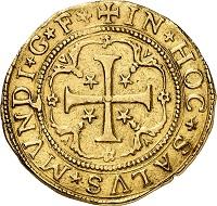 Nr. 5206: Genua, Republik. 10 Scudi 1624. Wohl einziges bekanntes Exemplar im Handel. Etwas beschnitten. Sehr schön. Taxe: 100.000,- Euro. Zuschlag: 150.000,- Euro