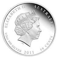 Australia - 0.50 AUD - 1/2oz 999 silver - 15.591 g - 36.6 mm - Mintage: 10,000 - Designer: Wade Robinson.