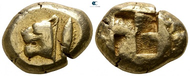 Lot 169: Mysia. Kyzikos. Stater EL, circa 550 BC. Very fine. Starting price: 2,000 Euro.