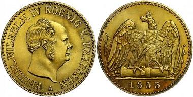 Los 555: Friedrich Wilhelm IV. Friedrich d'or, 1853. f. st. Taxe: 3.000,-