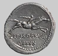 Römische Republik, Denar, 90 v. Chr. Reiter mit Palmzweig. © Staatliche Antikensammlungen und Glyptothek München, Renate Kühling.