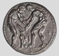 Aspendos, Stater, spätes 5.-3. Jh. v. Chr. Ringer. © Staatliche Antikensammlungen und Glyptothek München, Renate Kühling.