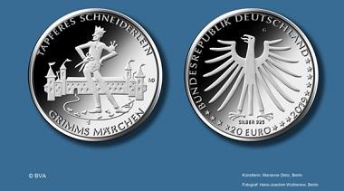 """20-Euro-Gedenkmünze """"Tapferes Schneiderlein"""". Quelle: BVA"""