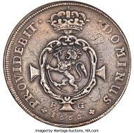 Lot 31438: Frederik III 3 Speciedaler 1666-FG VF Details (Reverse Graffiti) NGC. Realized: $432,000.