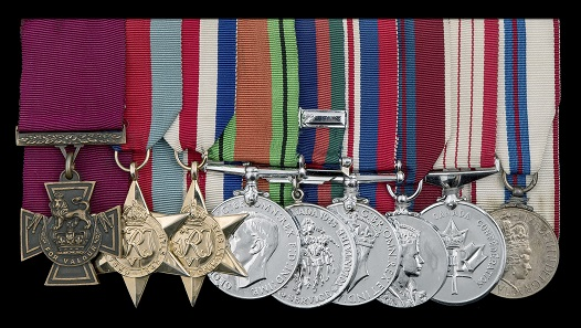 Die Ordensspange von Lieutenant Colonel David Vivian Currie. Foto: Dix Noonan Webb.