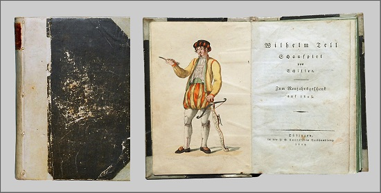 Der Erstdruck von Schillers Wilhelm Tell von 1804. Foto: H.-P.Haack / CC-BY-SA 3.0.