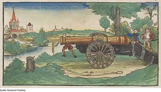 Abbildung einer Kanone von 1547. Quelle: Deutsche Fotothek / Wikipedia.