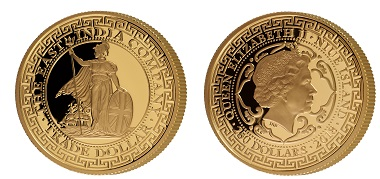 Niue Islands / 250 Dollar / .9999 gold Proof / 1oz / 32mm / Mintage: 200. Photo: The East India Company Bullion Ltd.