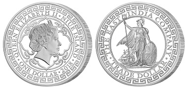 Niue Islands / 1 Dollar / .999 silver Proof / 1oz / 38.6mm / Mintage: 2,500. Photo: The East India Company Bullion Ltd.