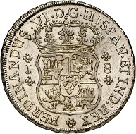 No. 1272: Chile. Fernando VI, 1746-1760. 8 reales 1758, Santiago. Extremely rare. Outstanding, well struck specimen. Very fine to extremely fine. Estimate: 25,000 euros.
