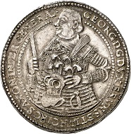 No. 2306: Brunswick-Calenberg-Hannover. George, 1636-1641. Double reichstaler 1641, Zellerfeld, on his death. Extremely fine to FDC. Estimate: 20,000 euros.