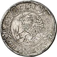 Nr. 2977: Pommern-Stettin. Philipp II., 1606-1618. Dreifacher Reichstaler 1613, Stettin. Wohl Unikum. Sehr schön. Taxe: 30.000,- Euro.