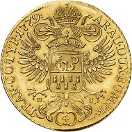 No. 6292: Holy Roman Empire. Maria Theresa, 1740-1780. 4 ducats 1779, Alba Iulia. Extremely rare. Nearly extremely fine. Estimate: 50,000 euros.