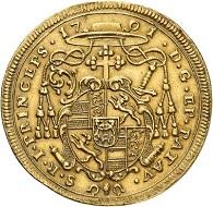 No. 6645: Passau. Johann Philipp von Lamberg, 1689-1712. 2 ducats 1701, Augsburg. Extremely rare. Nearly extremely fine. Estimate: 20,000 euros.