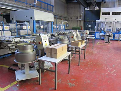 A semi-automatic packaging facility. Photograph: UK.