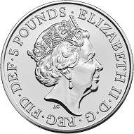 Great Britain / 5 GBP / .925 silver / 28.28g / 38.61mm / Design: Jody Clark / Mintage: 16,000.