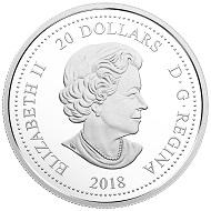 Canada / 20 Dollars / 1oz .9999 silver and three Swarovski® crystals / 31.39mm / Mintage: 15,000.