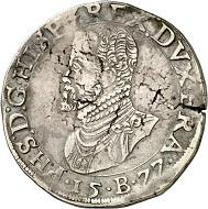 Brabant. Philipsdaalder 1577, Brussels. Extremely rare. Very fine. Estimate: 1,500,- euros. From Künker 207 (June 18, 2018), no. 226.