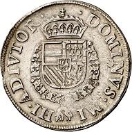 Geldern. Burgundian rijksdaalder 1567. Very fine to extremely fine. Estimate: 200,- euros. From Künker 207 (June 18, 2018), no. 1168.