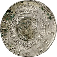 Hainaut. Statendaalder 1578, Mons. Extremely rare. Nearly extremely fine. Estimate: 3,000,- euros. From Künker 207 (June 18, 2018), no. 585.