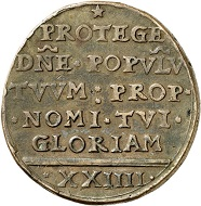 Maastricht. 24 stuber in copper, Mai 1579. Very fine. Estimate: 150,- euros. From Künker 207 (June 18, 2018), no. 912.