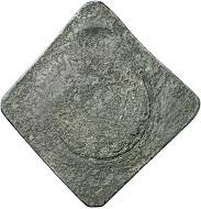 Oudenaarde. Uniface klippe worth 20 stuber 1582 in tin. Very rare. Very fine. Estimate: 1,000,- euros. From Künker 207 (June 18, 2018), no. 686.