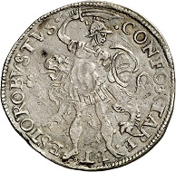 Republic of Brabant. ROBUSTUS 1/2 daalder 1584, Antwerp. Very rare. Very fine. Estimate: 2,000,- euros. From Künker 207 (June 18, 2018), no. 248.