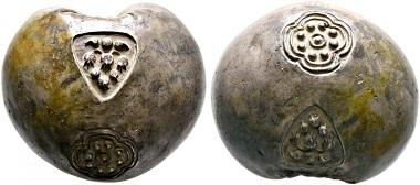 Thailand / Siam. Königreiche von Ayudhya. Silber 70(!) Baht, ohne Jahr. Äußerst selten. Vorzüglich. Taxe: 7.500,- Euro