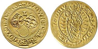 Pfalz. Ludwig V. der Friedfertige, 1508-1544. Goldgulden 1508, Neumarkt. Äußerst selten. Fast vorzüglich. Taxe: 50.000,- Euro.