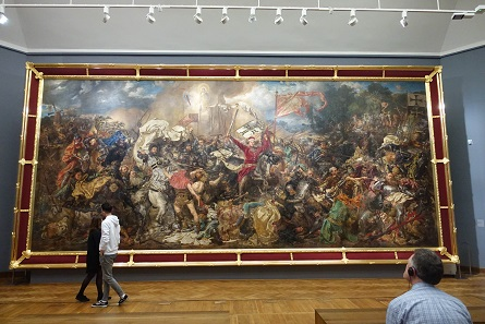 This is practically an icon of Polish historicism, the painting of the Battle of Tannenberg (Grunwald) by Jan Matejko from the year 1878. Photo: UK.