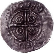 Boleslaw I, called the Brave, first king of Poland since 1025. Denarius. - The effigy inspired the logo of the International Numismatic Congress. Photo: National Museum Warsaw.