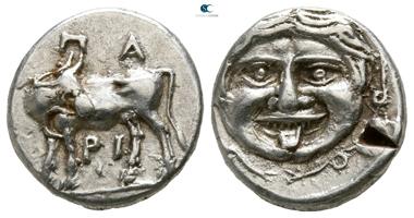 Mysia. Hemidrachm, 400-300 BC, Parion. Good very fine.