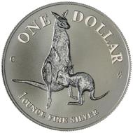 One dollar coin 1996.