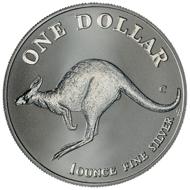 One dollar coin 1998.