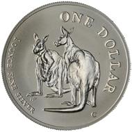 One dollar coin 1999.