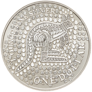 One dollar coin 2001.