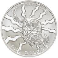 One dollar coin 2002.