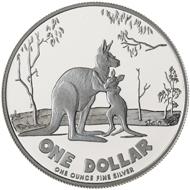 One dollar coin 2007.