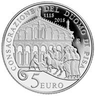 Italy / 5 euro / .925 silver / 18g / 32mm / Design: Annalisa Masini / Mintage: 4,000.