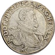Los 2020: Römisch Deutsches Reich, Rudolf II. (1576-1612). Doppeltaler 1607, Münzstätte Kuttenberg. Schätzpreis: 4.000 CHF / Erzielter Preis: 18.000 CHF (exkl. Aufgeld).