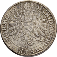Lot 2020: Holy Roman Empire, Rudolf II (1576-1612). Double taler 1607, Kuttenberg mint. Estimate: 4,000 CHF / Price realized: 18,000 CHF (excl. premium).
