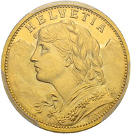 "Lot 3322: Switzerland, Swiss Confederation. ""Stirnlockenvreneli"" 20 francs 1897 (with forelock). Extremely rare. Estimate: 80,000 CHF / Price realized: 130,000 CHF (excl. premium)."
