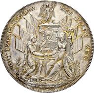 Los 3438: Schweiz, Zug. Schützengesellschaft der Stadt Zug, Medaille 1827. Nur ca. 150 Exemplare geprägt. Schätzpreis: 1.500 CHF / Erzielter Preis: 1.700 CHF (exkl. Aufgeld).
