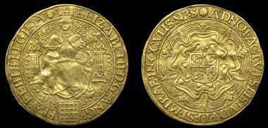 Lot 583. Great Britain. Elizabeth I (1558-1603). Sixth issue, Fine Sovereign. Very fine. GBP 12,000-15,000.