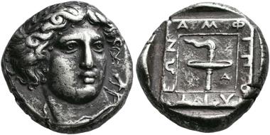 No. 25. Amphipolis (Macedonia). Tetradrachm, 364-363. Very rare. Very fine. Estimate: 50,000,- euro.