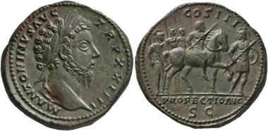 No. 148. Marcus Aurelius. 161-180. Sestertius, 169/70. Very rare. Extremely fine. Estimate: 3,000,- euro.