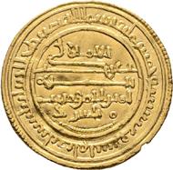 Lot 6257: Hispano-Arabic. Ali ben Yusuf. Sevilla. Dinar. 522 H. Extremely fine- / Extremely fine. Starting bid: 500 euros.