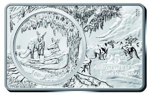 Australia / 1 Australian Dollar / 99.9 silver / coin: 1oz, bar: 2oz / coin: 40.00mm, bar: 50.00mm x 80.00mm / Mintage: 5,000.